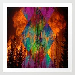 Elements : Fire Art Print