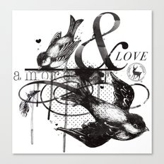 Amore & Love Canvas Print