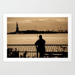 NYC fishing Art Print