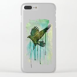 Raven Sky Clear iPhone Case