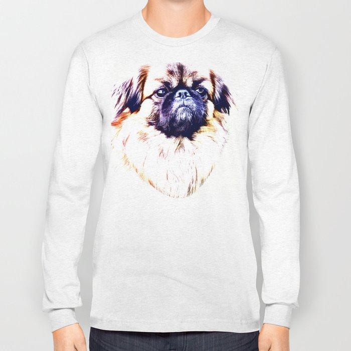 Lion Dog (white background) Long Sleeve T-shirt