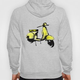 Yellow Vespa Scooter Hoody