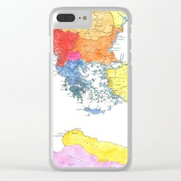 The Ancient Mediterranean Clear iPhone Case