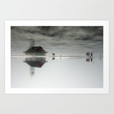 Dogs & Fog Art Print