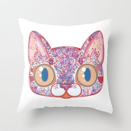 Chromatic Cat I Throw Pillow