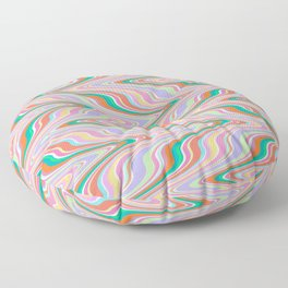 Infinity, retro colors of abstract ikat chevron pattern Floor Pillow