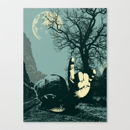 Slow Rock Snail in the night sky Canvas Print