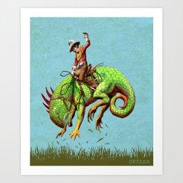 Ornery Critter! Art Print
