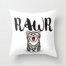 Little Pal, Big Roar Throw Pillow