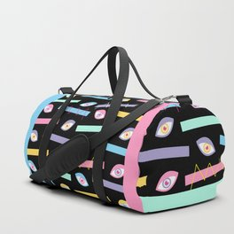 Black Teichopsia Eyes Duffle Bag