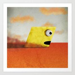 Yellow Rhombus Monster Art Print