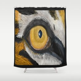 The Tiger Eye Shower Curtain