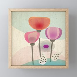 Naive Blooms Framed Mini Art Print