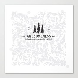 Awesomeness Canvas Print
