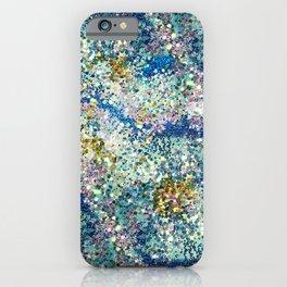 Glittery Ocean Waves iPhone Case