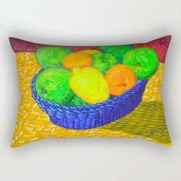 Still Life with Apples, Lemons, Oranges, and Pear Rectangular Pillow