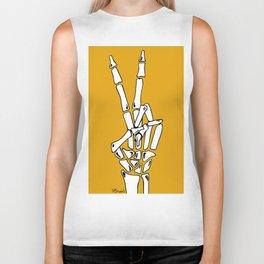 Peace and Love - pop Catrina bone hand Biker Tank