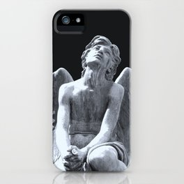 Angel praying to the sky iPhone Case
