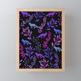 Watercolor Floral & Fox V Framed Mini Art Print