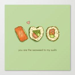 Sushi Valentine Canvas Print