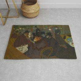 Henri de Toulouse-Lautrec - At the Moullin Rouge Rug