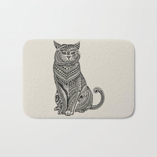 Polynesian British Shorthair cat Bath Mat