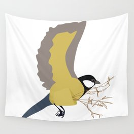 Bæremeis (Great tit carrier ?  :)   ) Wall Tapestry