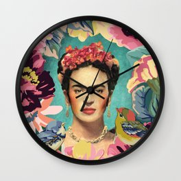Frida Kahlo V Wall Clock