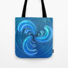 Crystal Blue Glass Bow Tote Bag