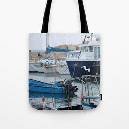 Docked Boats-Color Tote Bag
