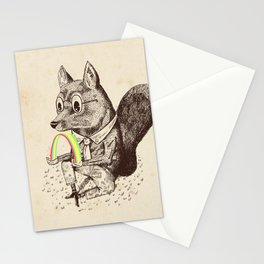 Strange Fox Stationery Cards