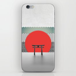 The Red Sun iPhone Skin