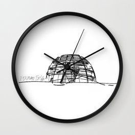 Reichstag Dome, Foster + Partners Wall Clock