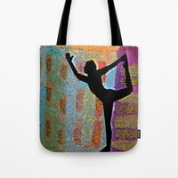 yoga Tote Bags featuring Yoga by Vicki Lynn Rae