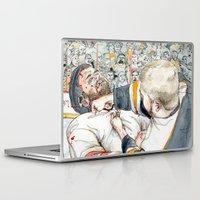 hockey Laptop & iPad Skins featuring Hockey fight by Chris Gauvain