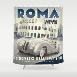 Roma Grand Prix Shower Curtain
