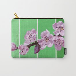 Cherry Blossoms on Greens Carry-All Pouch