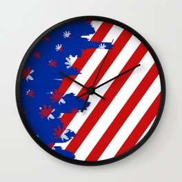 Patriotic Painting Wall Clock