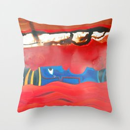 Weeping forest Throw Pillow