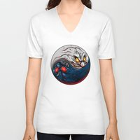 ying yang V-neck T-shirts featuring ying yang by EPIK