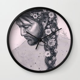 Braid and flowers Wall Clock