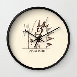 Aberdeen - dinosaur police sketch Wall Clock