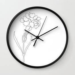 Carnation Lines Wall Clock