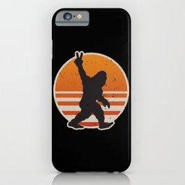 Retro Bigfoot Peace Sign iPhone Case