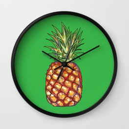 Pineapple, tropical, Hawaii Wall Clock