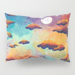Rainbow Moonlit Sky Pillow Sham
