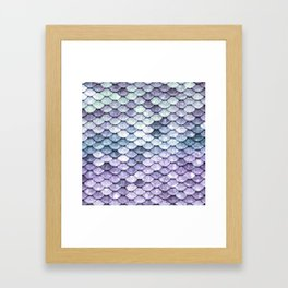 Mermaid Tail Teal Lavender Framed Art Print