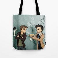 pie Tote Bags featuring Pie by Phantasmic Dream