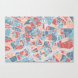 Krakow map Canvas Print