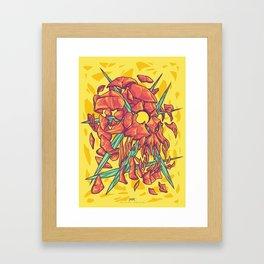 (Des)Integration Series - Yellowskull Framed Art Print
